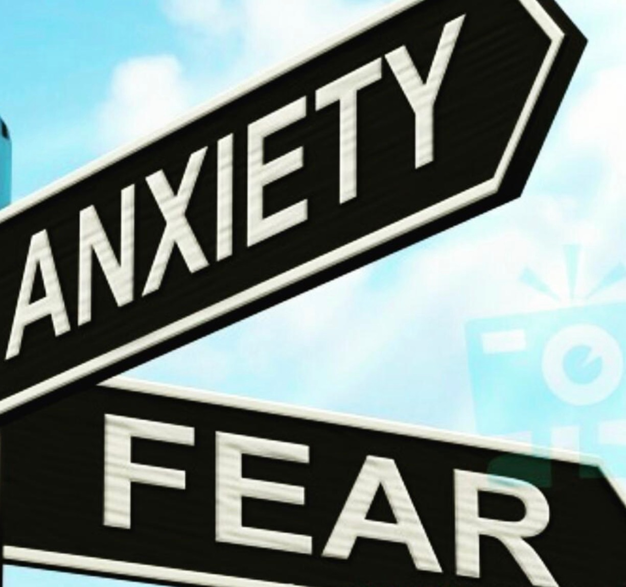 Anxiety fear street sign