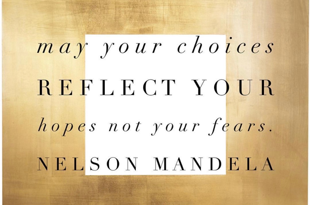Nelson Mandela's overcome fear quote